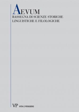 Considerazioni e proposte per una storia della poesia lirica francese nel secolo XVI